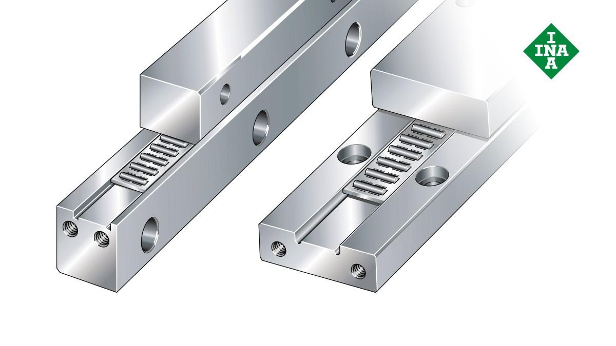 Schaeffler lineer kılavuzları: İğneli makaralı düz kafesli J/S kılavuz yolları