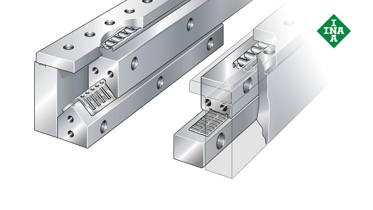 Schaeffler lineer kılavuzları: İğne makaralı ve silindirik makaralı düz kafesli counterstay sistemi