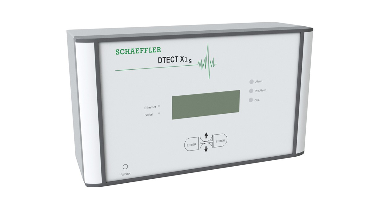FAG DTECTX1, makine ve tesis endüstrisindeki döner bileşen ve elemanların izlenmesine yönelik esnek bir çevrimiçi sistemdir.