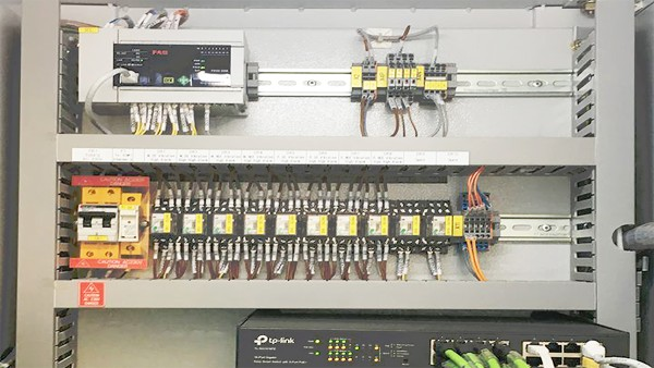 Individual layout of the switch cabinets